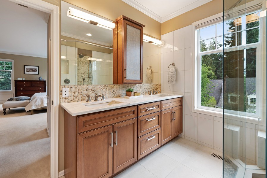 Real Estate Photography - 2401 100th Ave NE, Bellevue, WA, 98004 - Master Bathroom