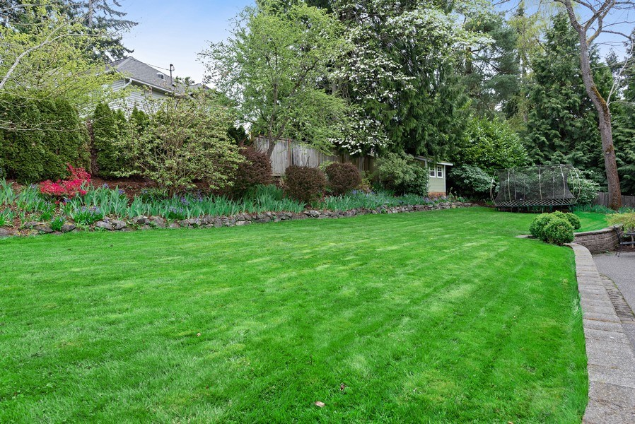 Real Estate Photography - 2401 100th Ave NE, Bellevue, WA, 98004 - Back Yard