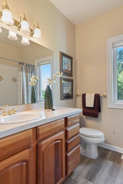 Real Estate Photography - 13804 64th Pl NE, Kirkland, WA, 98034 - Upstairs Hall Full Bath