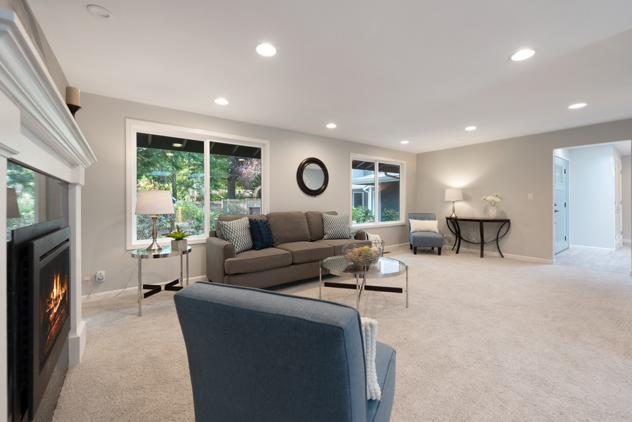Real Estate Photography - 9628 NE 200th St, Bothell, WA, 98011 - Living Room