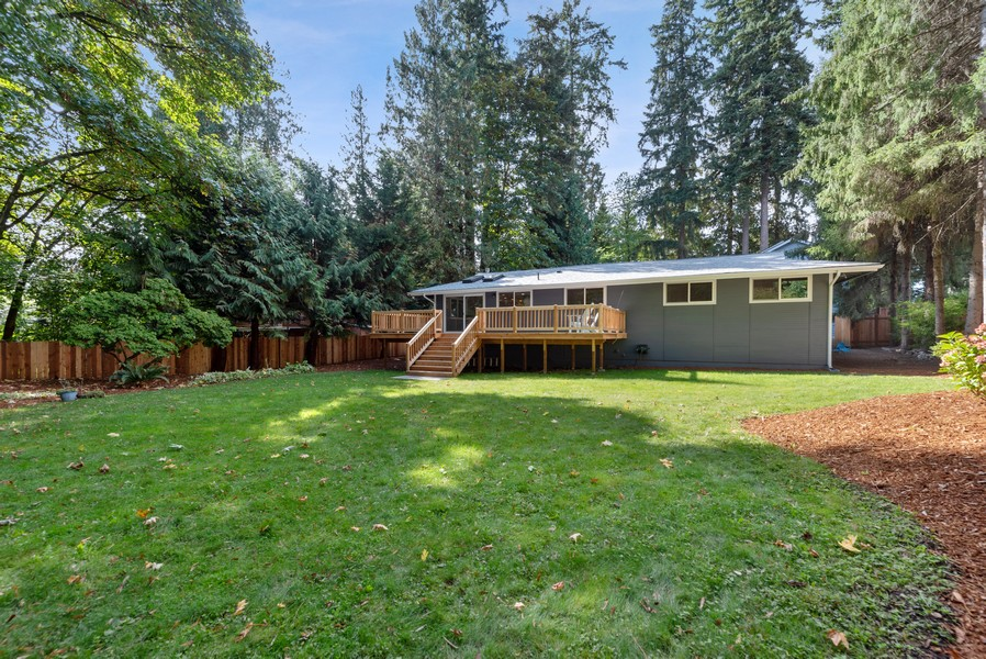 Real Estate Photography - 9628 NE 200th St, Bothell, WA, 98011 - Rear View