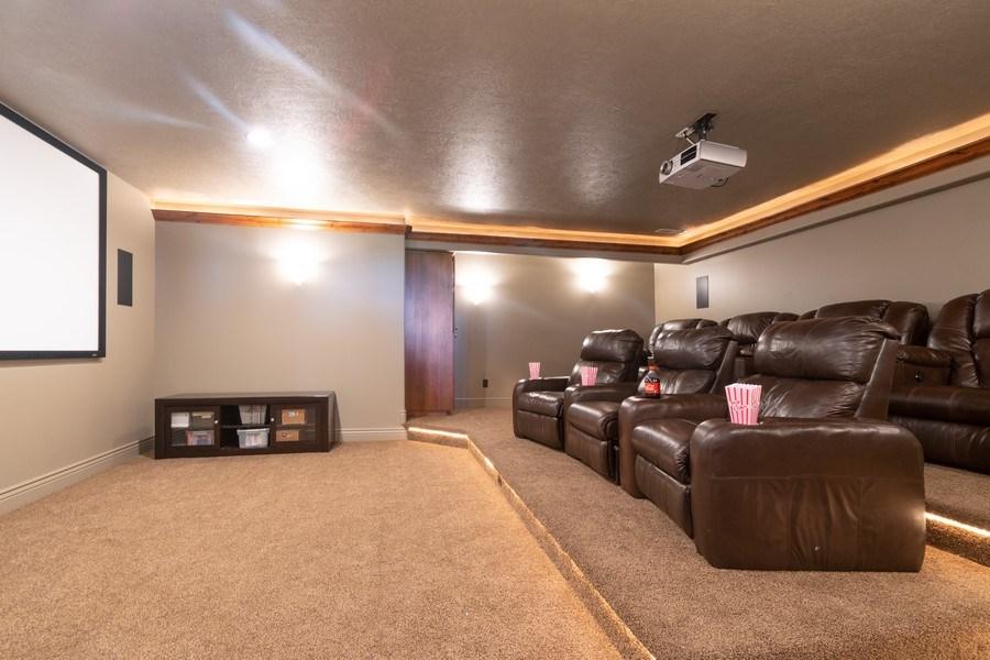Real Estate Photography - 2364 S Shorewood Dr., Saratoga Springs, UT, 84045 - Media Room