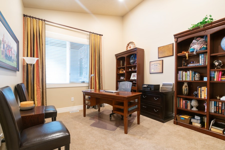 Real Estate Photography - 2364 S Shorewood Dr., Saratoga Springs, UT, 84045 - Office