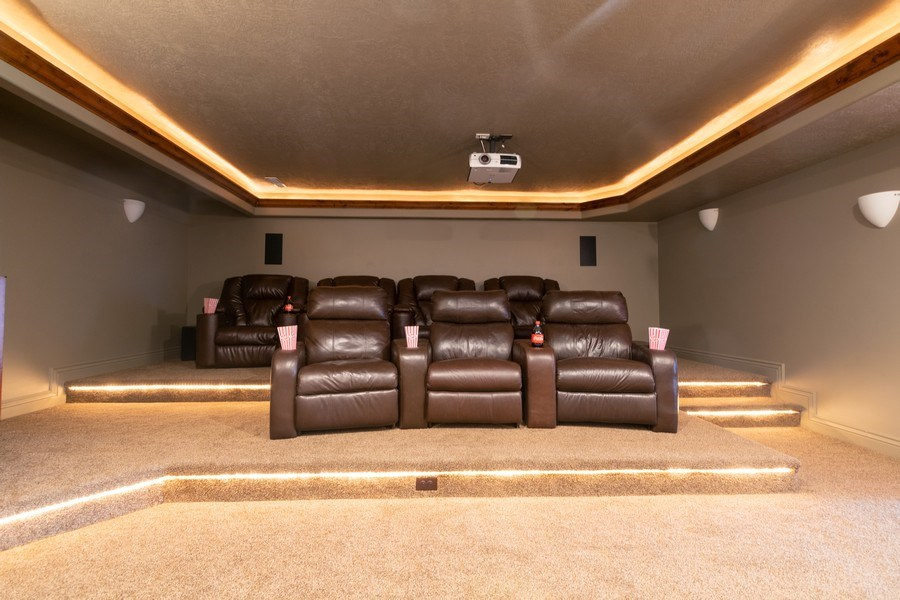 Real Estate Photography - 2364 S Shorewood Dr., Saratoga Springs, UT, 84045 - Theater