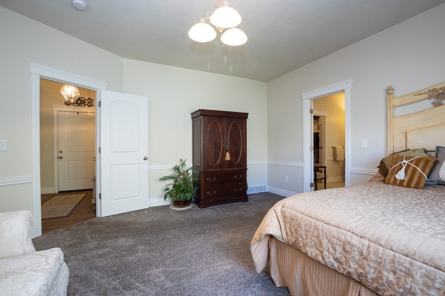 Real Estate Photography - 14956 S Cedar Falls Dr, Herriman, UT, 84096 - Master Bedroom
