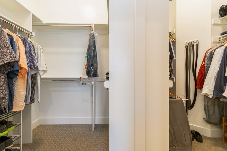 Real Estate Photography - 7392 S 5765 W, West Jordan, UT, 84081 - Master Bedroom Closet