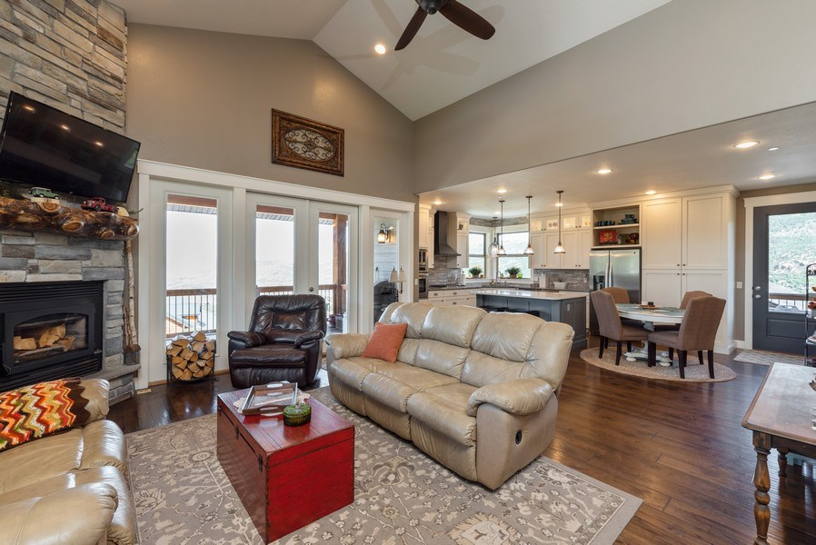 Real Estate Photography - 1641 Clyde Lake, Lot 350, Heber City, UT, 84032 - Living Room