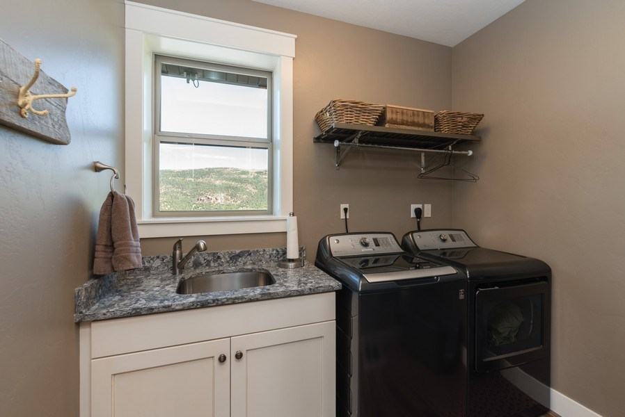Real Estate Photography - 1641 Clyde Lake, Lot 350, Heber City, UT, 84032 - Laundry Room