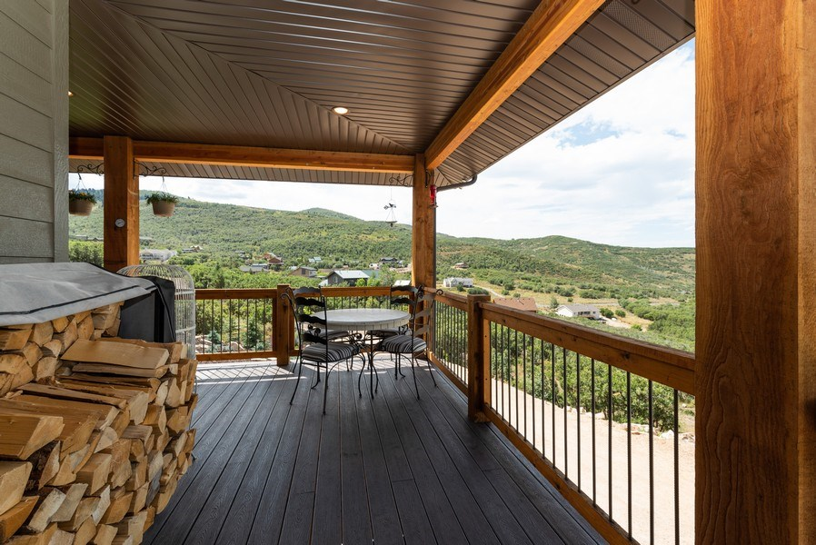 Real Estate Photography - 1641 Clyde Lake, Lot 350, Heber City, UT, 84032 - Deck