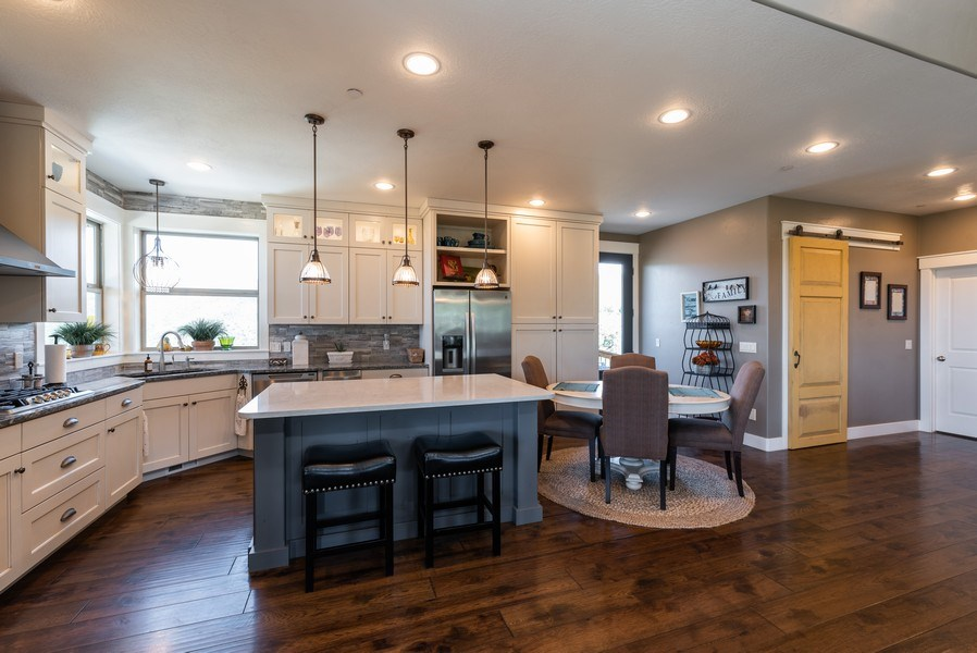 Real Estate Photography - 1641 Clyde Lake, Lot 350, Heber City, UT, 84032 - Kitchen / Dining Room