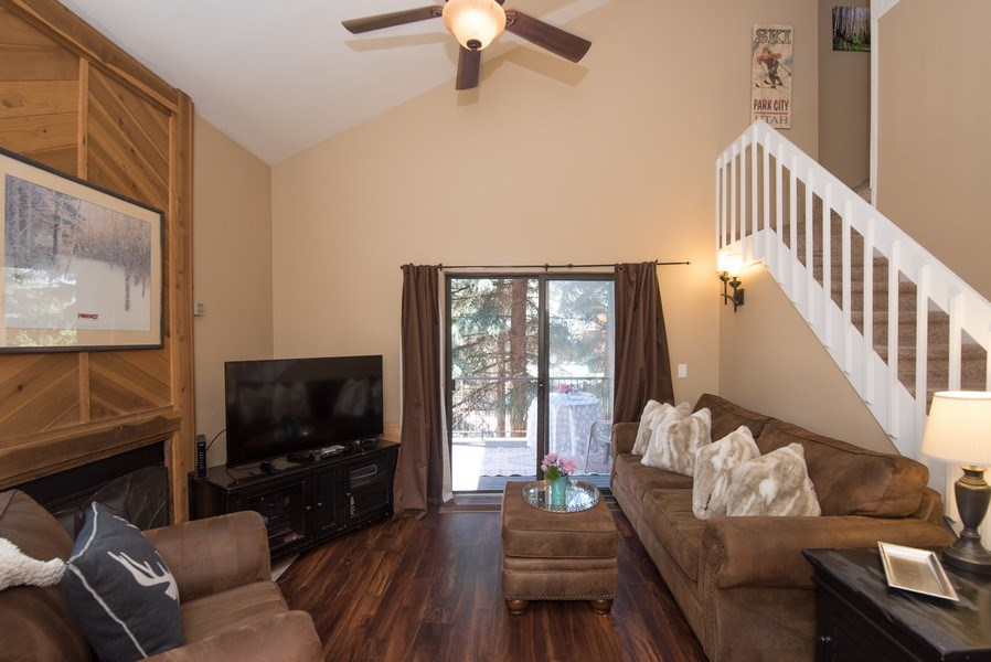 Real Estate Photography - 2025 Canyons Resrot Dr, F-7, Park City, UT, 84098 - Living Room