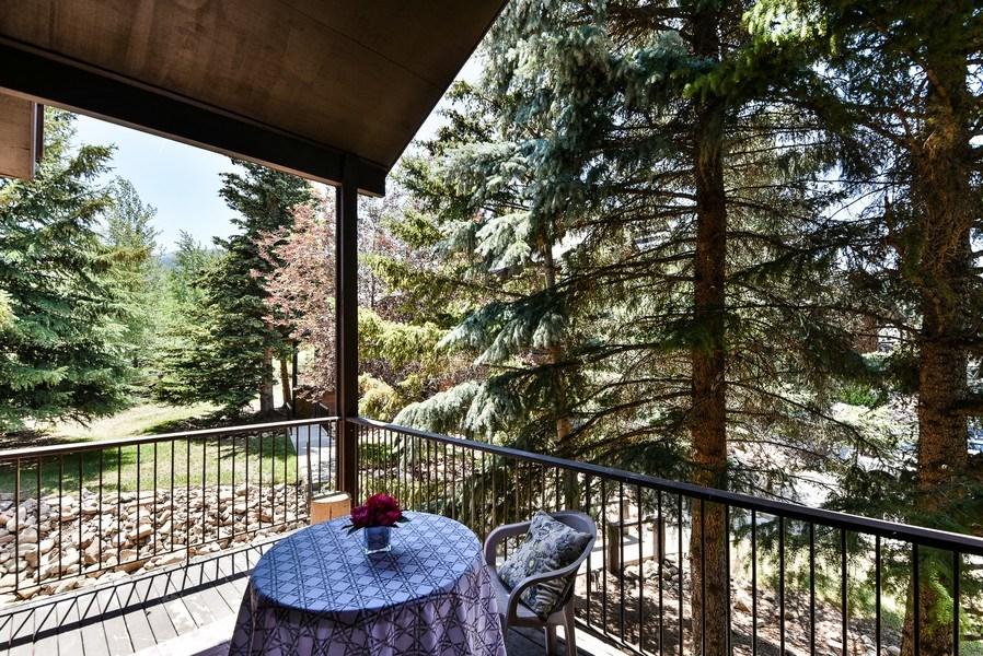 Real Estate Photography - 2025 Canyons Resrot Dr, F-7, Park City, UT, 84098 - Back Yard