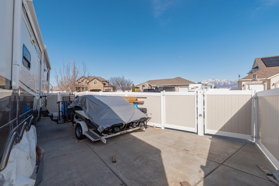 Real Estate Photography - 4639 West Baldy Drive, West Jordan, UT, 84088 - Back Yard