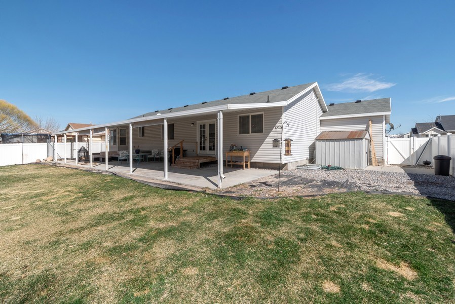 Real Estate Photography - 2894 Woodbrook Lane, Magna, UT, 84044 - Back Yard