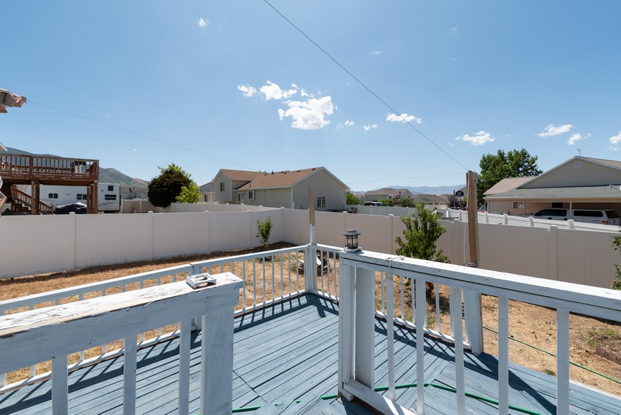 Real Estate Photography - 578 South 900 West, Tooele, UT, 84074 - Deck