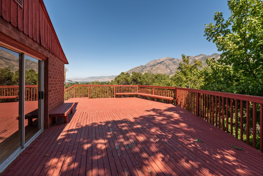 Real Estate Photography - 2731 E Carole Drive, Cottonwood Heights, UT, 84121 - Deck