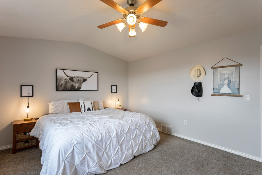 Real Estate Photography - 652 W 800 N #45, Clinton, UT, 84015 - Master Bedroom