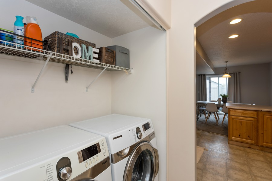 Real Estate Photography - 652 W 800 N #45, Clinton, UT, 84015 - Laundry Room