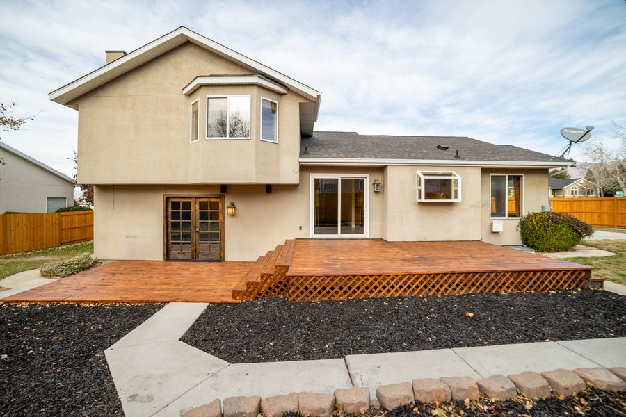 Real Estate Photography - 2012 E Ashley Mesa Ln, Sandy, UT, 84092 - Rear View