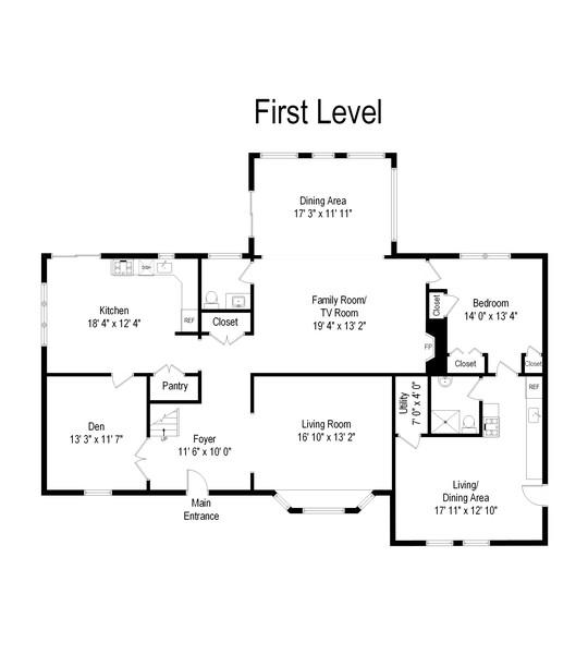 Real Estate Photography - 2 Croydon Ave, Ronkonkoma, NY, 11779 - Floor Plan